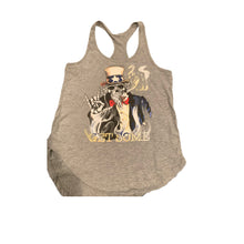 "Load image into Gallery viewer, ""Uncle Slam"" Grey Ladies Tank"