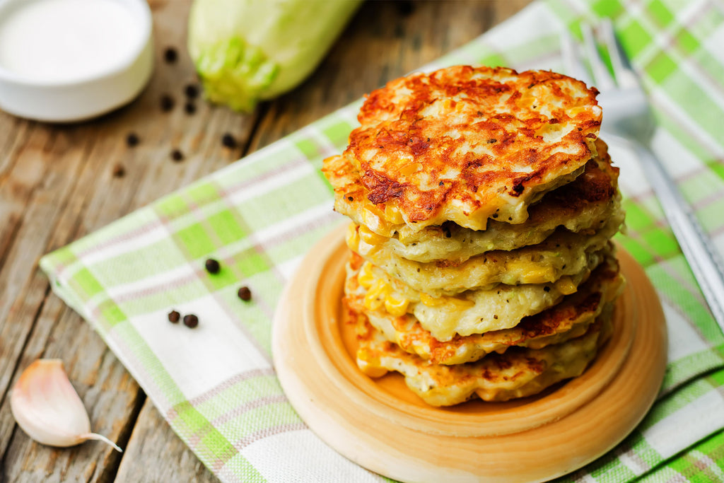 CORN AND BUCKWHEAT FRITTERS
