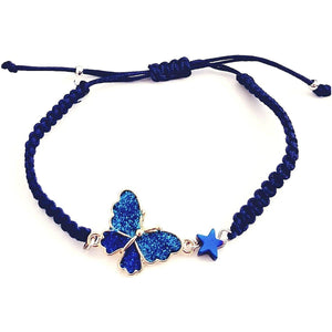 Blue butterfly light bracelet