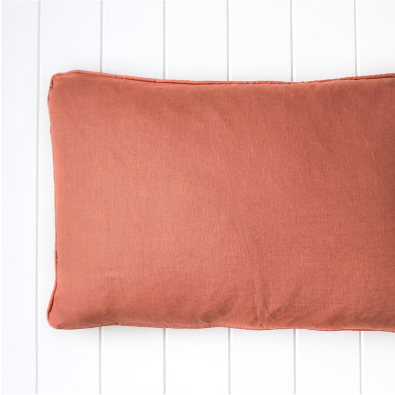 RUST LINEN CUSHION 60X40