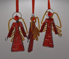 Load image into Gallery viewer, Beaded Christmas Angel set of 3