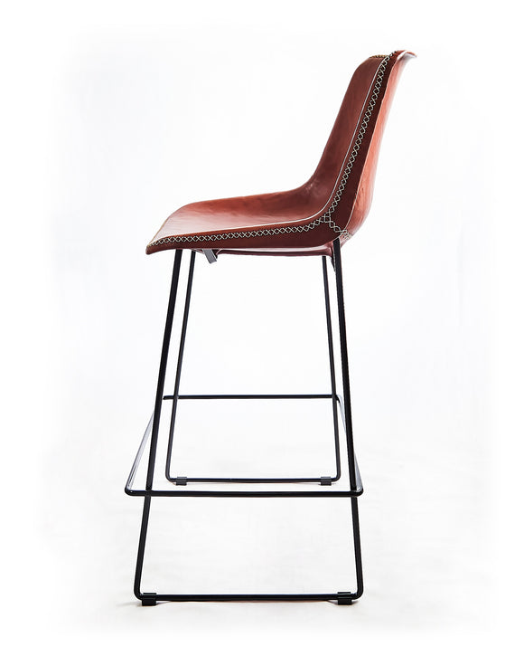 Stool Grand F Red Brown