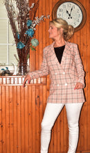 Load image into Gallery viewer, Paisley Check Blazer (Pink) - DavRon Fashions