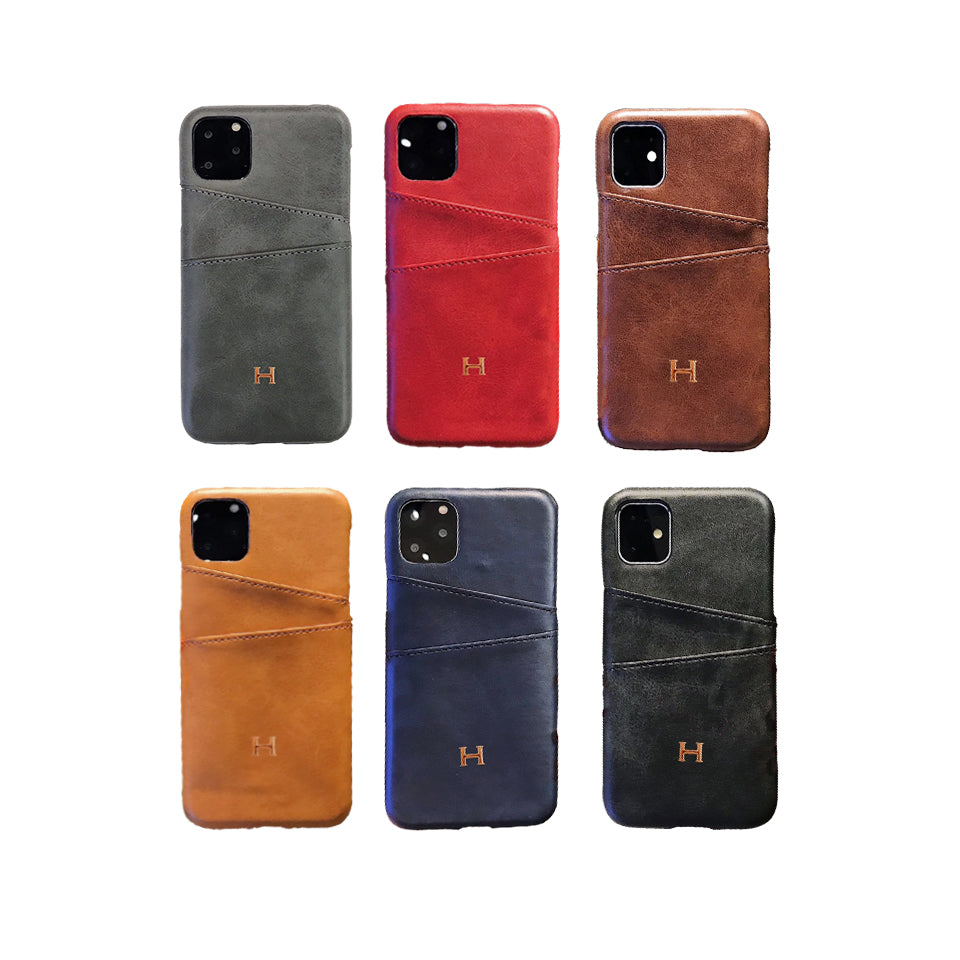 Hermes(エルメス) IPhone 12 Pro Max、12/12 Pro、12 mini、11 Pro Max、11 Pro、11、XS Max、X/XS、XR、7/8、7/8 Plus カード挿入可能な ケース 6色