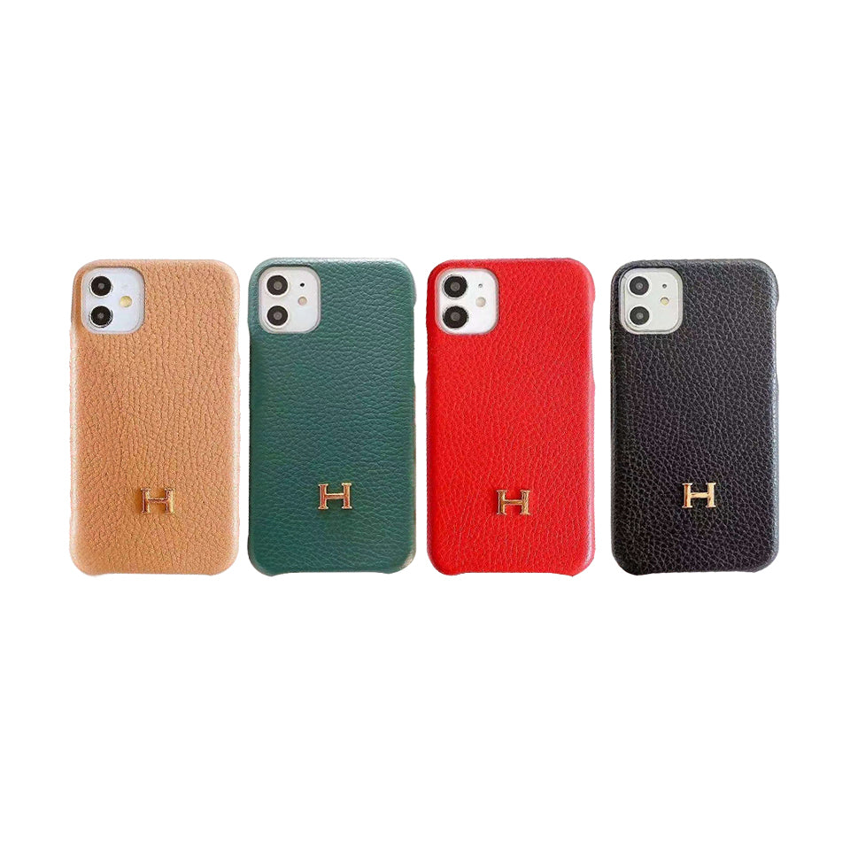 Hermes(エルメス) IPhone 12 Pro Max、12/12 Pro、12 mini、11 Pro Max、11 Pro、11、XS Max、X/XS、XR、7/8、7/8 Plus ライチ テクスチャ ケース 4色