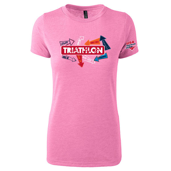 Women's Triathlon Directional SS Triblend Tee