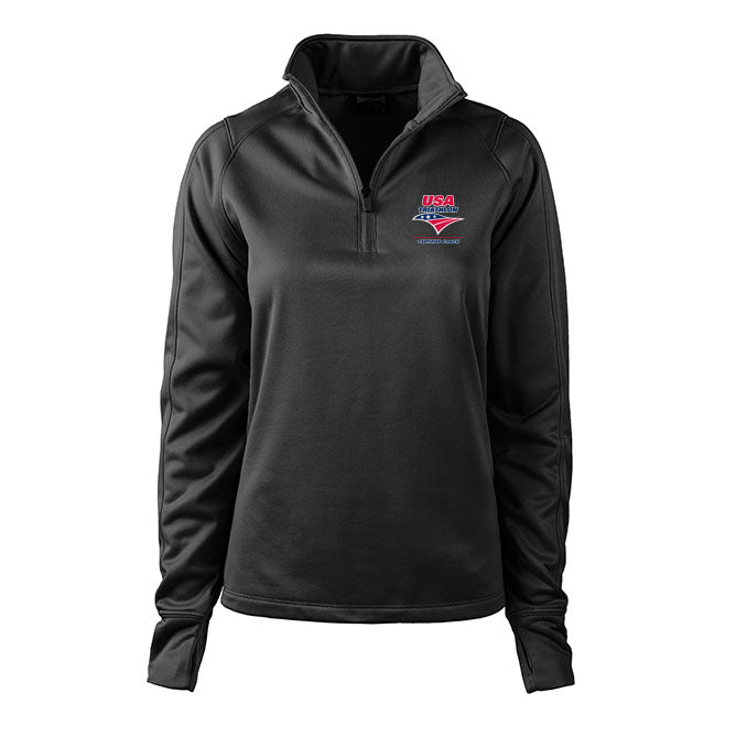 Women's USA Triathlon Certified Coach 1/4 Zip Performance Pullover