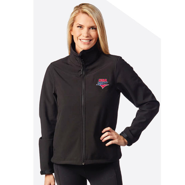 Women's Aspen Softshell Jacket with USA Triathlon Logo