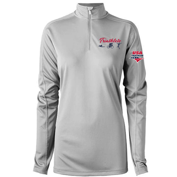 Triathlete Custom Women's 1/4 Zip Platinum