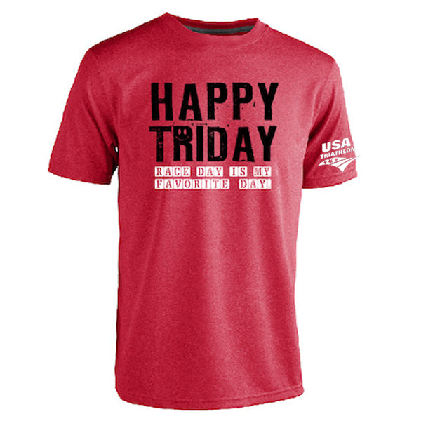Women's Happy TriDay Training Tee