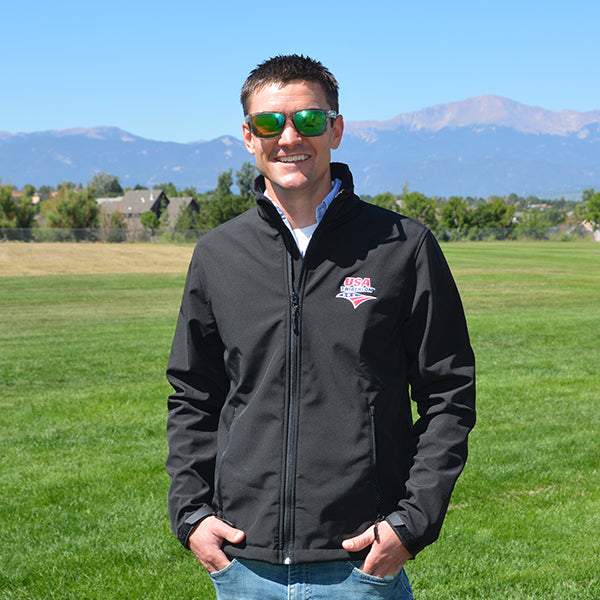 Men's Aspen Softshell Jacket with USA Triathlon Logo