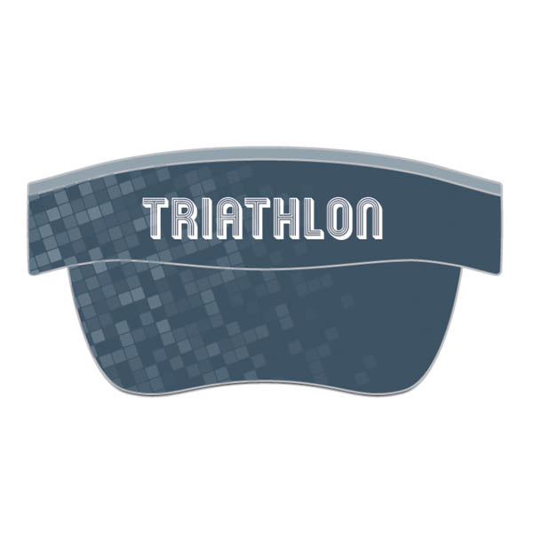 Triathlon Visor Pixelated Grey