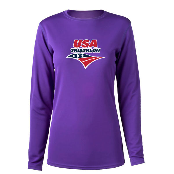 Women's USA Triathlon Long Sleeve Tech Tee