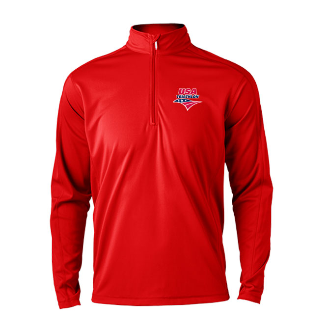 USA Triathlon Men's 1/4 Zip