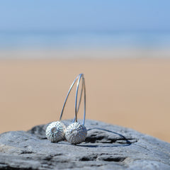 Silver Urchin Hook Earrings