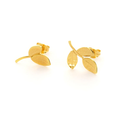 Multi Leaf Studs - 18ct Gold Vermeil (Gold Plated Silver)