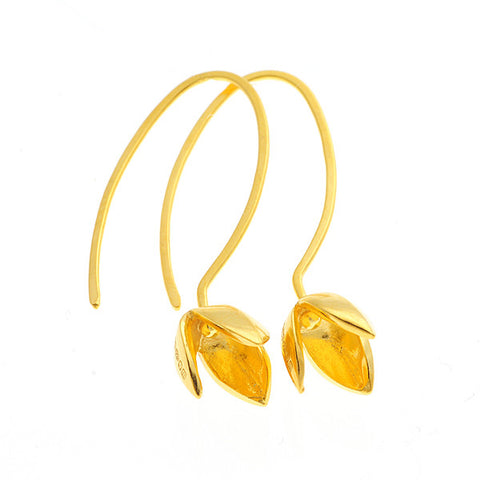 Gold Vermeil Snowdrop Hook Earrings