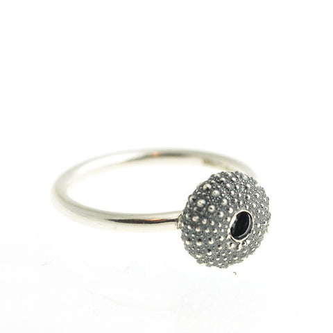 Oxidised Silver Urchin Ring