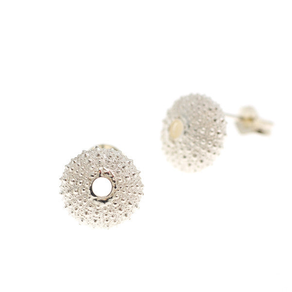 Silver Urchin Stud Earrings