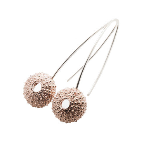 Rose Gold Vermeil Urchin Hook Earrings