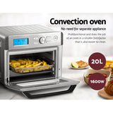 Devanti 20L Air Fryer Convection Oven Oil Free Fryers Kitchen Healthy Cooker Accessories