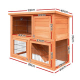 i.Pet 93cm Tal Wooden Pet Coop