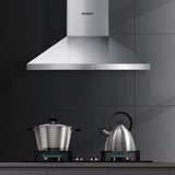 Devanti Range Hood 60cm 600mm Kitchen Canopy Stainless Steel Rangehood Wall Mount