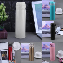 Cargar imagen en el visor de la galería, 450ml Travel Mug Water Thermos Stainless Steel Double Wall Thermal Cup Bottle Vacuum Cup School Home Tea Coffee Drink Bottle