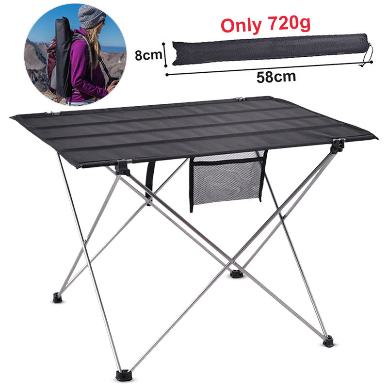 Outdoor Camping Table Portable Foldable Desk Furniture Computer Bed Ultralight Aluminium Hiking Climbing Picnic Folding Tables