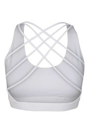 Bamboo Bra Crossed Back - Back - White