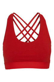 Bamboo Bra Crossed Back - Front -Lava