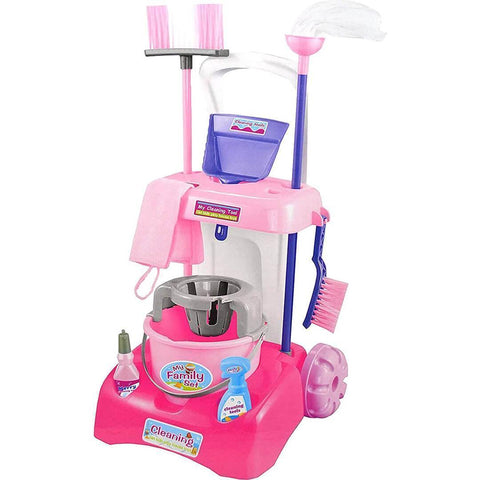 Kids Cleaning Trolley Play Set