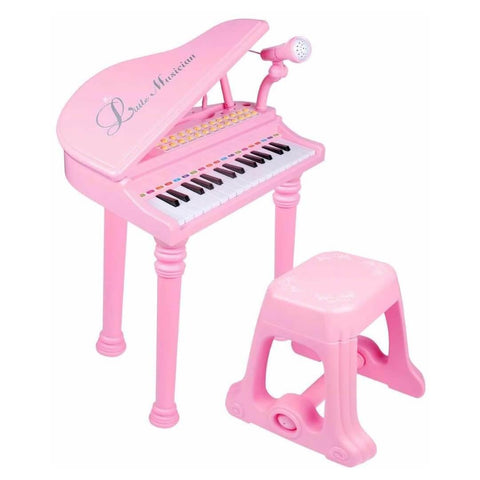 Electronic Piano With Microphone and Stool