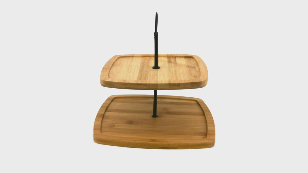 2 Tier Wooden Cake Stand