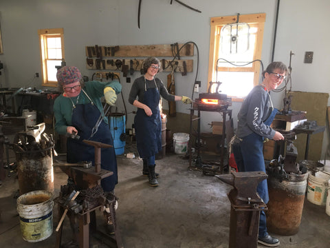 Blackthorne Forge Students hard at work and having fun