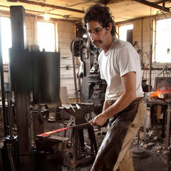 Photo of blacksmith Steven Bronstein from Blackthorne Forge in Vermont