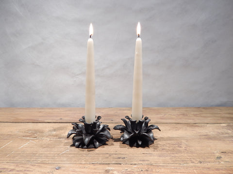 Floral Candle Pair