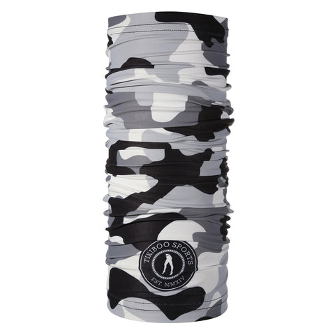 Tikiboo Monochrome Camo TikiTube Scarf - Full Product View