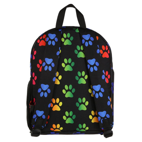 Tikiboo Rainbow Paw Print Rucksack - Back Product View