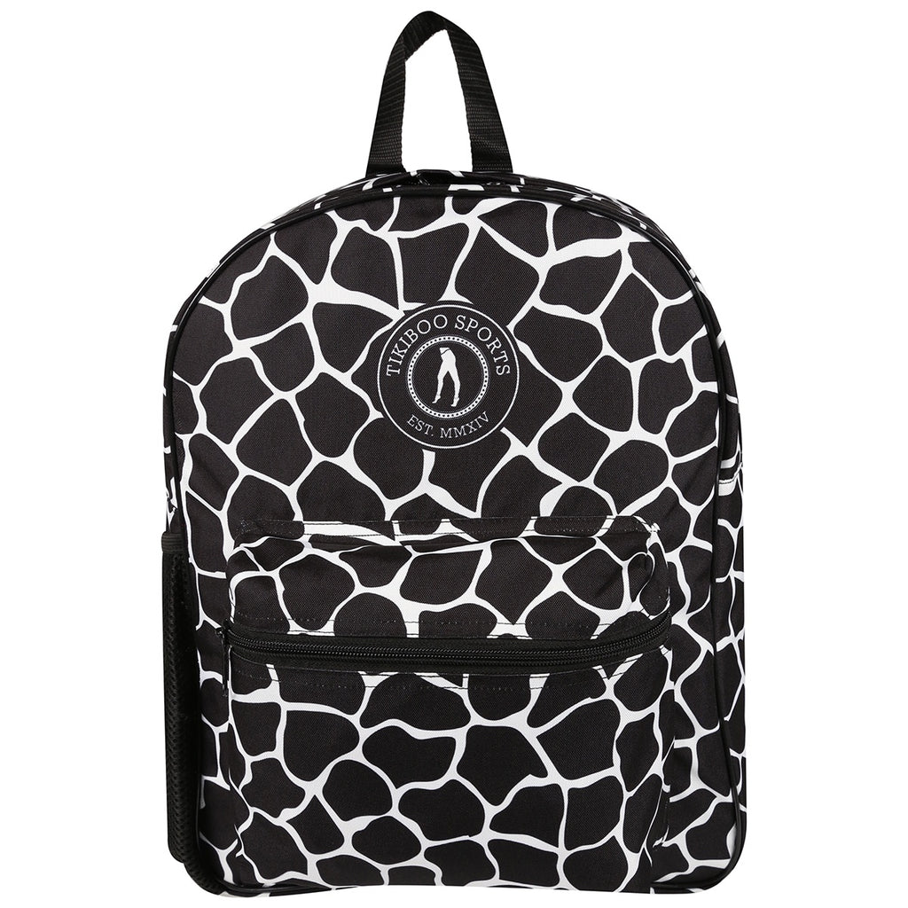 Tikiboo Monochrome Giraffe Backpack - Front Product View