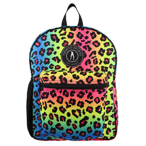 Tikiboo Neon Leopard Backpack - Front Product View