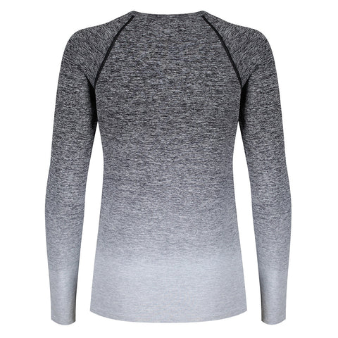 Tikiboo Grey Ombré Long Sleeved Base Layer - Back Product View