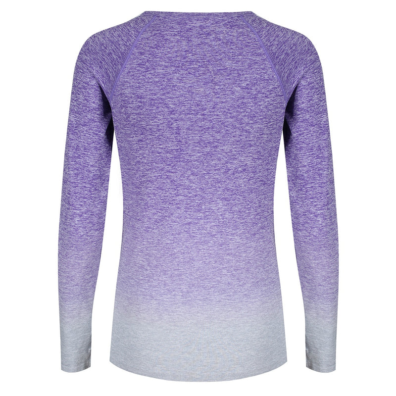 Tikiboo Purple Ombré Long Sleeved Base Layer - Back Product View
