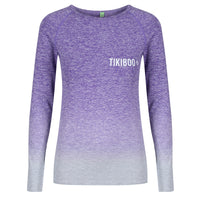 Tikiboo Purple Ombré Long Sleeved Base Layer - Front Product View