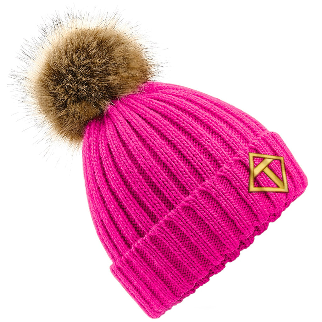 Tikiboo Pink Bobble Hat - Front Product View