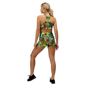 Tikiboo Jungle Patchwork TikiBooty Short Pants - Back Model View