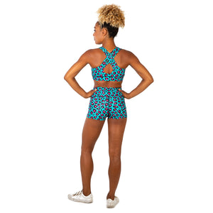 Tikiboo Minty Leopard TikiBooty Short Pants - Back Model View