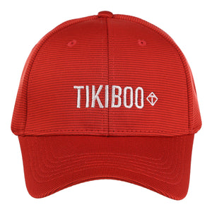 Tikiboo Red Logo Cap - Front Product View
