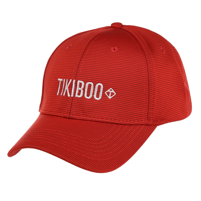 Tikiboo Red Logo Baseball Hat - Front Product View