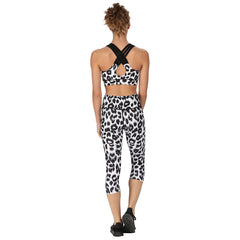 Tikiboo Snow Leopard 3/4 Length Pants - Back Model View